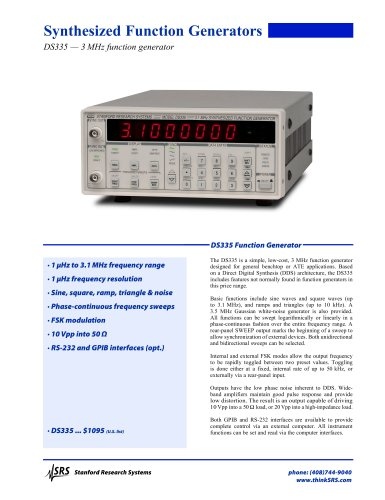 DS335 Function Generator