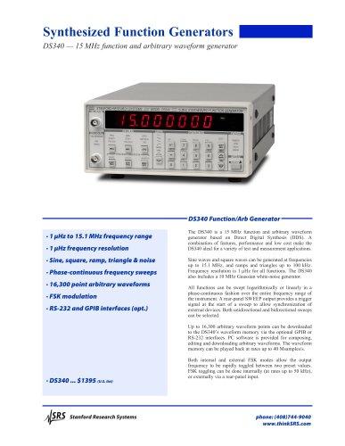 DS340 Function / Arbitrary Waveform Generator