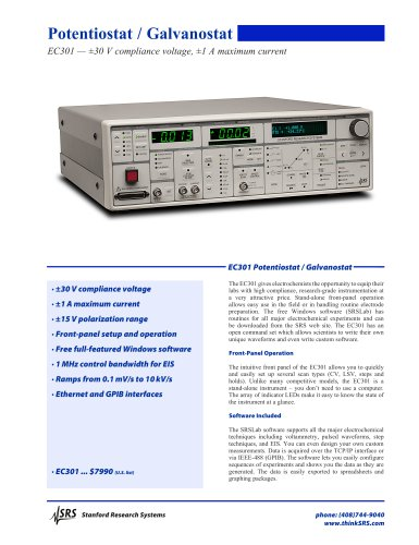 EC301Potentiostat / Galvanostat