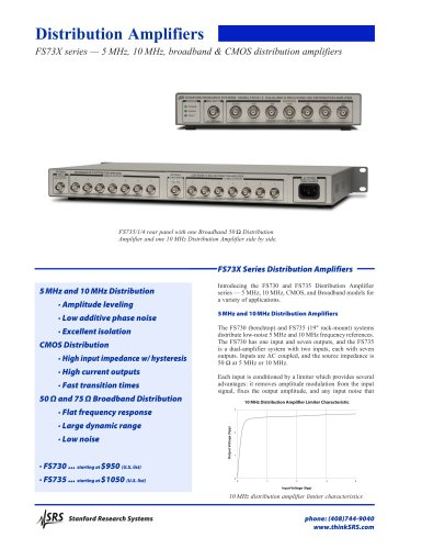FS730/3CMOS Logic Distribution Amplifier