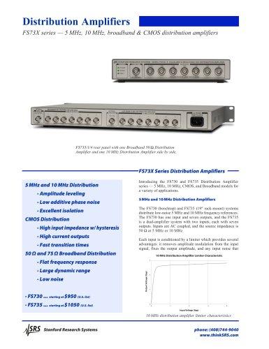 FS730/5Broadband 75  Distribution Amplifier