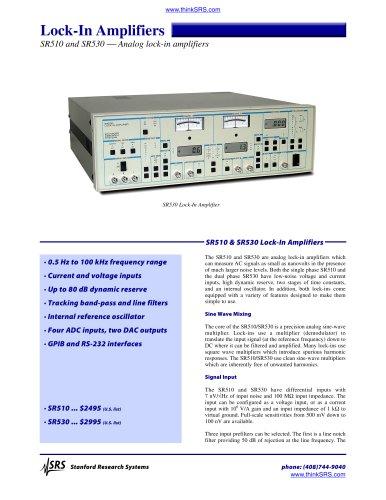 Lock in Amplifiers