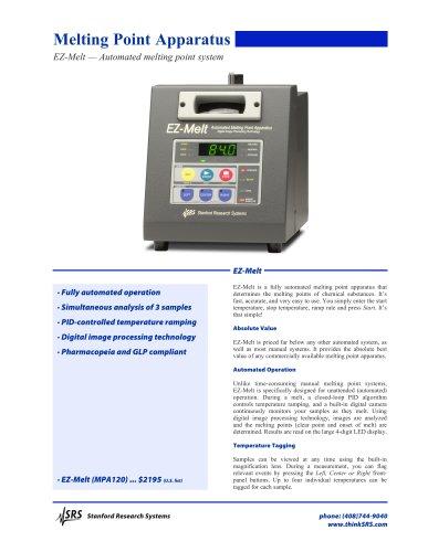 MPA120EZ-Melt Automated Melting Point System