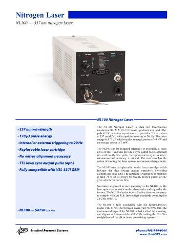 NL100 Nitrogen Laser