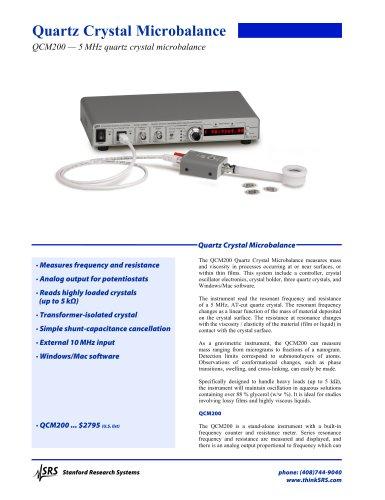 QCM200 Quartz Crystal Microbalances