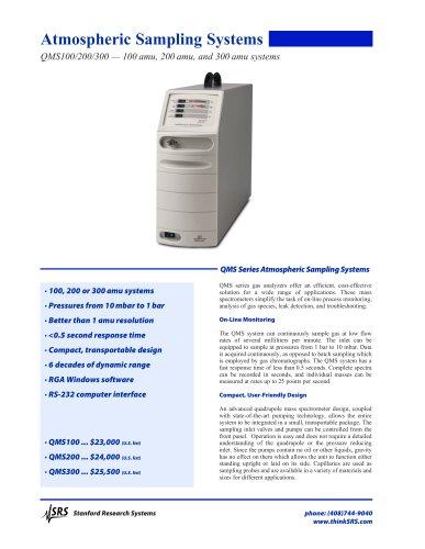 QMS100/200/300 — 100 amu, 200 amu, and 300 amu systems