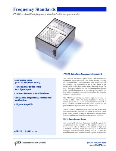 Rubidium Frequency Standard