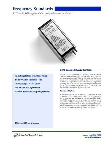 SC10 — 10 MHz high-stability ovenized quartz oscillator