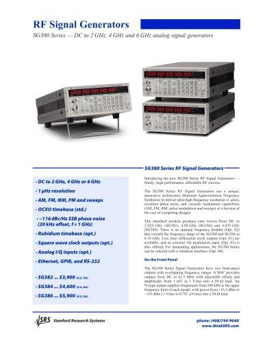 SG382 2 GHz RF Signal Generator