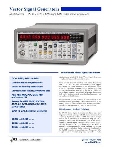 SG3966 GHz Vector Signal Generator