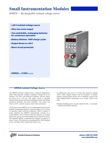 SIM928Isolated Voltage Source