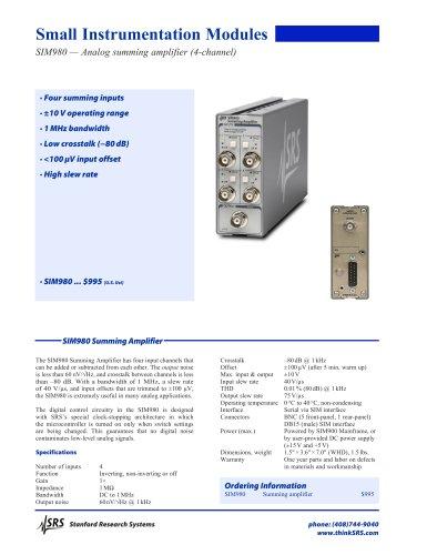 SIM980 Summing Amplifier