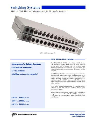 SR10/11/12Audio Switchers