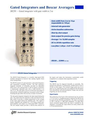 SR250Gated Integrator