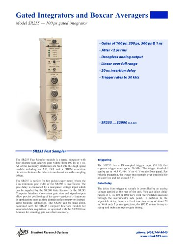 SR255Fast Sampler
