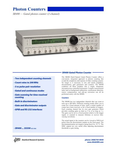 SR400Dual Channel Gated Photon Counter