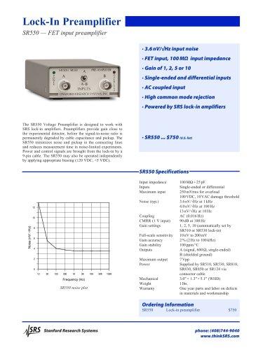 SR550 FET Input Preamplifier