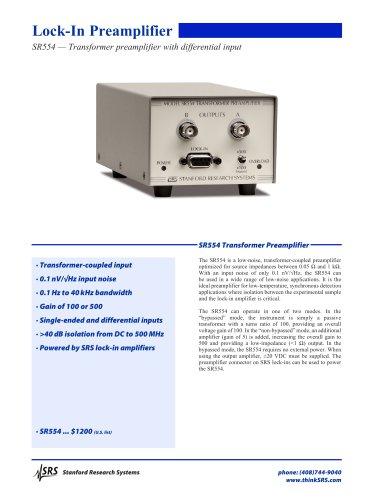 SR554 Transformer Preamplifier