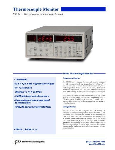 SR630 Thermocouple Reader