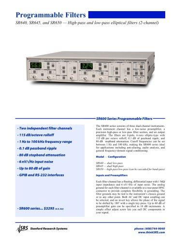SR640 Programmable Filters