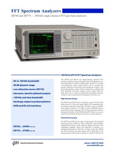 SR760/770 FFT Spectrum Analyzers