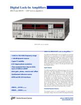 SR810 and SR830 — DSP lock-in amplifiers