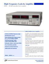 SR844200 MHz RF Lock-In Amplifier