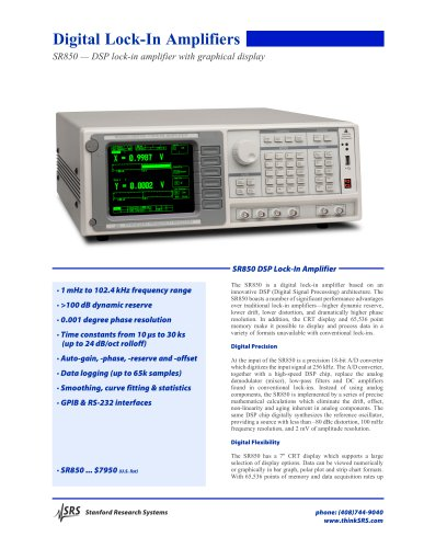 SR850DSP Lock-In Amplifier