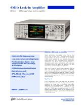 SR865A — 4 MHz dual phase lock-in amplifier