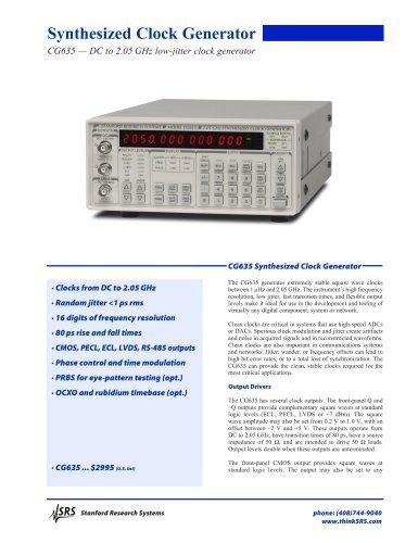 Synthesized Clock Generator