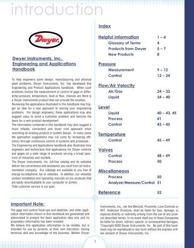 Engineering and Application Handbook