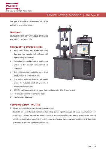 ETM-ZZ Series Flexure Testing Machine