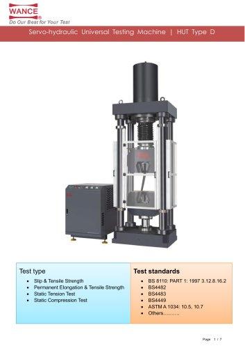 HUT Type D  Servo-hydraulic
