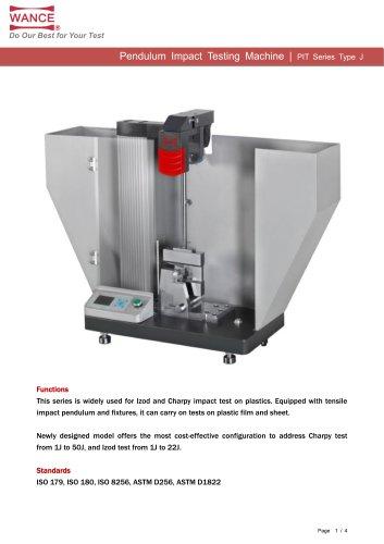 New Type Plastic Pendulum Impact Testing Machine