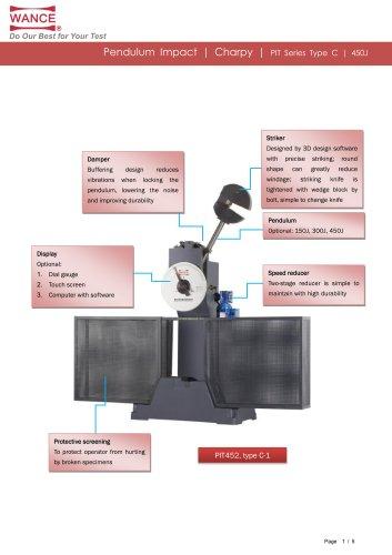 Pendulum Charpy Impact Tester 150J~450J