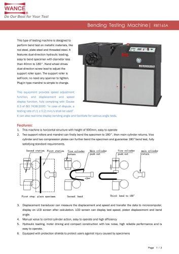 RBT165A Rebar bending testing machine