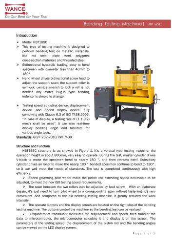 Rebar bending testing machine