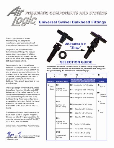 Universal Swivel Bulkhead Fitting