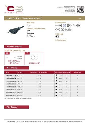 Power cord sets - Power cord sets - E2
