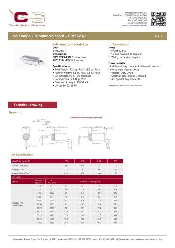 Tubolar Solenoid - T195223/2