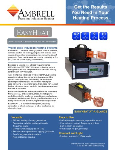 EASYHEAT LI power from 4.2kW to 10kW, operation from 150kHz to 400kHz