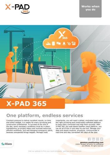 X-Pad 365 Broschure