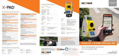 X-PAD Ultimate GO & Zoom10 Brochure