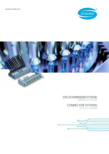 Connector systems PITCH 2.5/2.54 MM