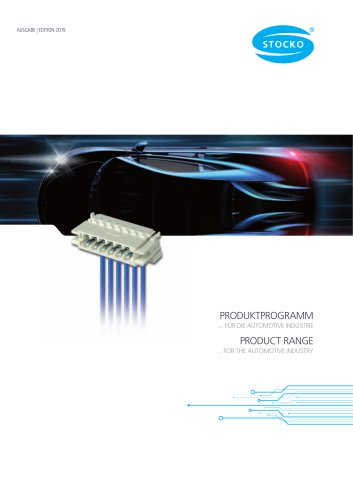 Product range for the automotive industry