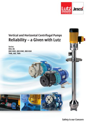 Vertical and horizontal Centrifugal Pumps