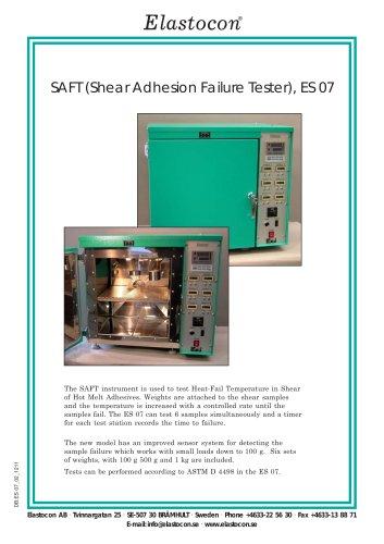 SAFT (Shear Adhesion Failure Tester), ES 07 - Elastocon AB - PDF