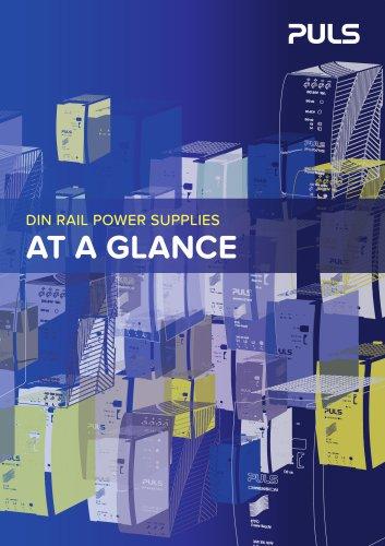 DIN RAIL POWER SUPPLIES AT A GLANCE