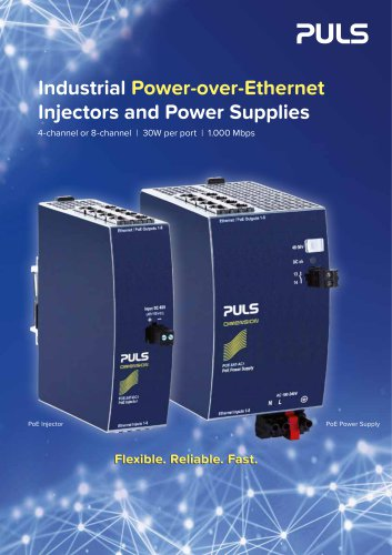 Industrial Power-over-Ethernet Injectors and Power Supplies