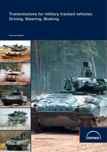 Transmissions for military tracked vehicles. Driving. Steering. Braking.